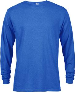 Adult 5.5 oz. Long Sleeve Tee With Rib Collar & Cuffs. Printing is available for this item.