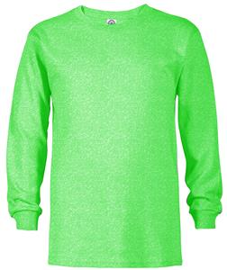 Youth 5.2 oz Long Sleeve Tee Shirt With Rib Collar 41070. Printing is available for this item.