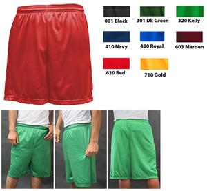 Soffe Adult Nylon Mini-Mesh Fitness Shorts