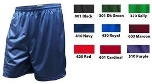 Soffe Adult Polyester Mini-Mesh Fitness Shorts