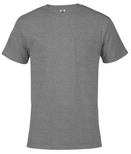 Adult X-Large Pre-Shrunk Cotton Short Sleeve Pocket Tee Shirt