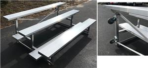 PEVO Tip-N-Roll 3 Row Bleachers. Free shipping.  Some exclusions apply.