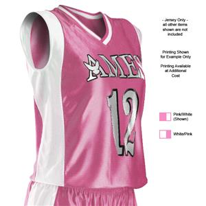 e83e4bdfb5a Alleson 552Y Youth Pink Dazzle Custom Basketball Jerseys ...