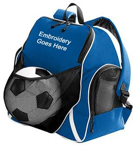 Augusta Sportswear Tri-Color Ball Backpack. Embroidery is available on this item.