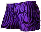 Gem Gear Purple Compression Zebra Prints Shorts