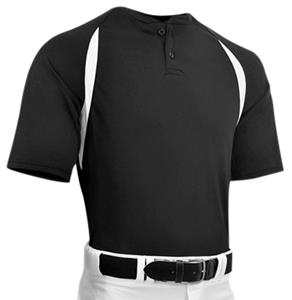 33973a8f5 Captain 2 Adult Two Button Placket Custom Baseball Jersey - Baseball ...