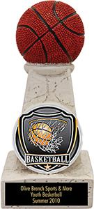 "Hasty Awards 6"" Basketball Stone Tower Trophy"