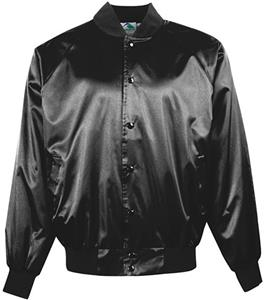 Augusta Snap Front Satin Jacket Solid Trim