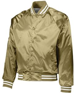 Augusta Satin Baseball Jacket/Striped Trim 3610