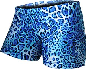 Gem Gear Compression Turquoise Leopard Shorts