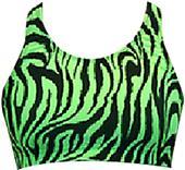 Gem Gear Green Zebra Racer Back Sports Bra