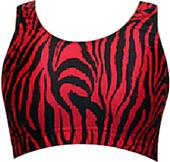 Gem Gear Red Zebra Racer Back Sports Bra