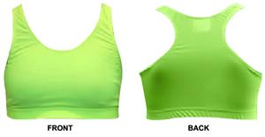 Gem Gear Yellow Neon Racer Back Sports Bra