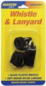 Martin Sports Small Black Whistle & Lanyard