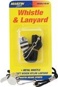 Martin Sports Small Metal Whistle & Lanyard