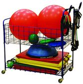 Indoor Phys Ed Open Top Combo Storage Cart