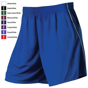 """Youth Girls 7"""" Inseam Cooling Piped Softball Shorts (No Pockets)"""