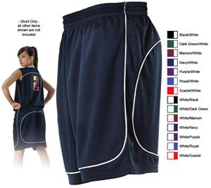 Alleson 548PW Women's Basketball Shorts CO