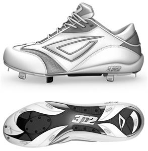 3n2 Womens Accelerate Fastpitch Metal Cleats White - Baseball ... cf0c5aace63