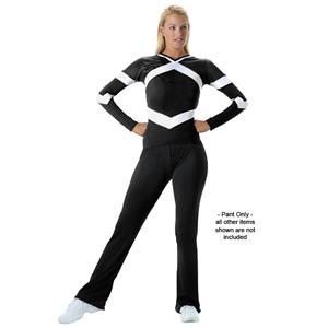 Cheerleaders Black Low Rise - Flared Leg Black Pants CO