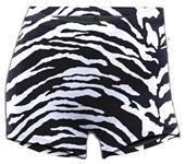 Soffe Juniors Zebra Print Compression Shorts