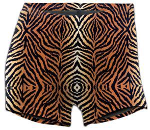 "Soffe Tiger Print Compression 3"" Shorts 093VPR"