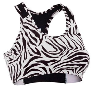 Soffe Junior Zebra Print Sports Bras