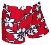 "Plangea Spandex 2.5"" Sports Shorts-Hibiscus Print"