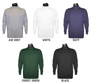 Long Sleeve Cotton Mock Turtleneck Shirts-Closeout