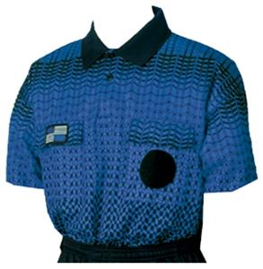1d9fe2e63cd NISOA College Referee Blue Grid SS Shirts - Soccer Equipment and Gear