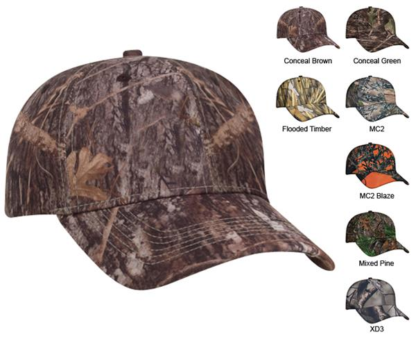 dc5d5869e26b Pacific Headwear 690C Structured Camouflage Caps