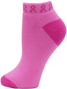 Red Lion Pinky Pink/Flo Pink  Ribbon Footie Sock