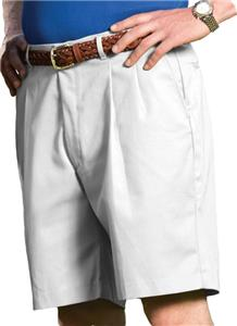 Edwards Mens Business Casual Pleated Shorts