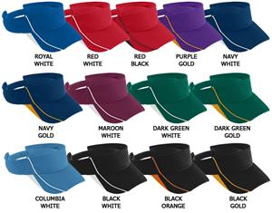 03834f5a Augusta Sportswear Athletic Mesh Force Visors - Soccer Equipment and Gear