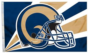 998479ca NFL Los Angeles Rams 3' x 5' Flag w/Grommets - Fan Gear