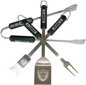 NFL Oakland Raiders 4 Piece BBQ Grilling Set