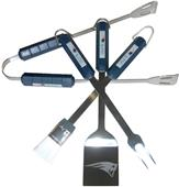 NFL New England Patriots 4 Piece BBQ Grilling Set