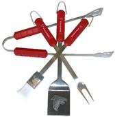 NFL Atlanta Falcons 4 Piece BBQ Grilling Set