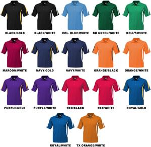 42a965ab2 Baw Men's SS Crescent Cool-Tek Polo Shirts - Cheerleading Equipment and Gear