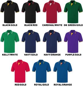 Baw Adult Short Sleeve Contrast Placket Polo Shirt