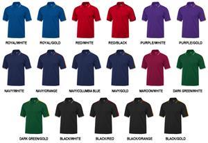 Baw Adult Short Sleeve Shoulder Stripe Polo Shirts