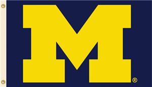 COLLEGIATE Michigan Logo Only 3' x 5' Flag