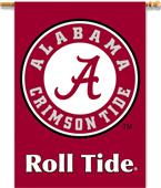 """COLLEGIATE Alabama Circle """"A"""" 2-Sided Banner"""