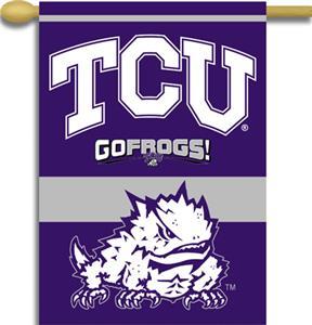 """COLLEGIATE TCU 2-Sided 28"""" x 40"""" Banner"""