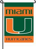 "COLLEGIATE Miami 2-Sided 13"" x 18"" Garden Flag"