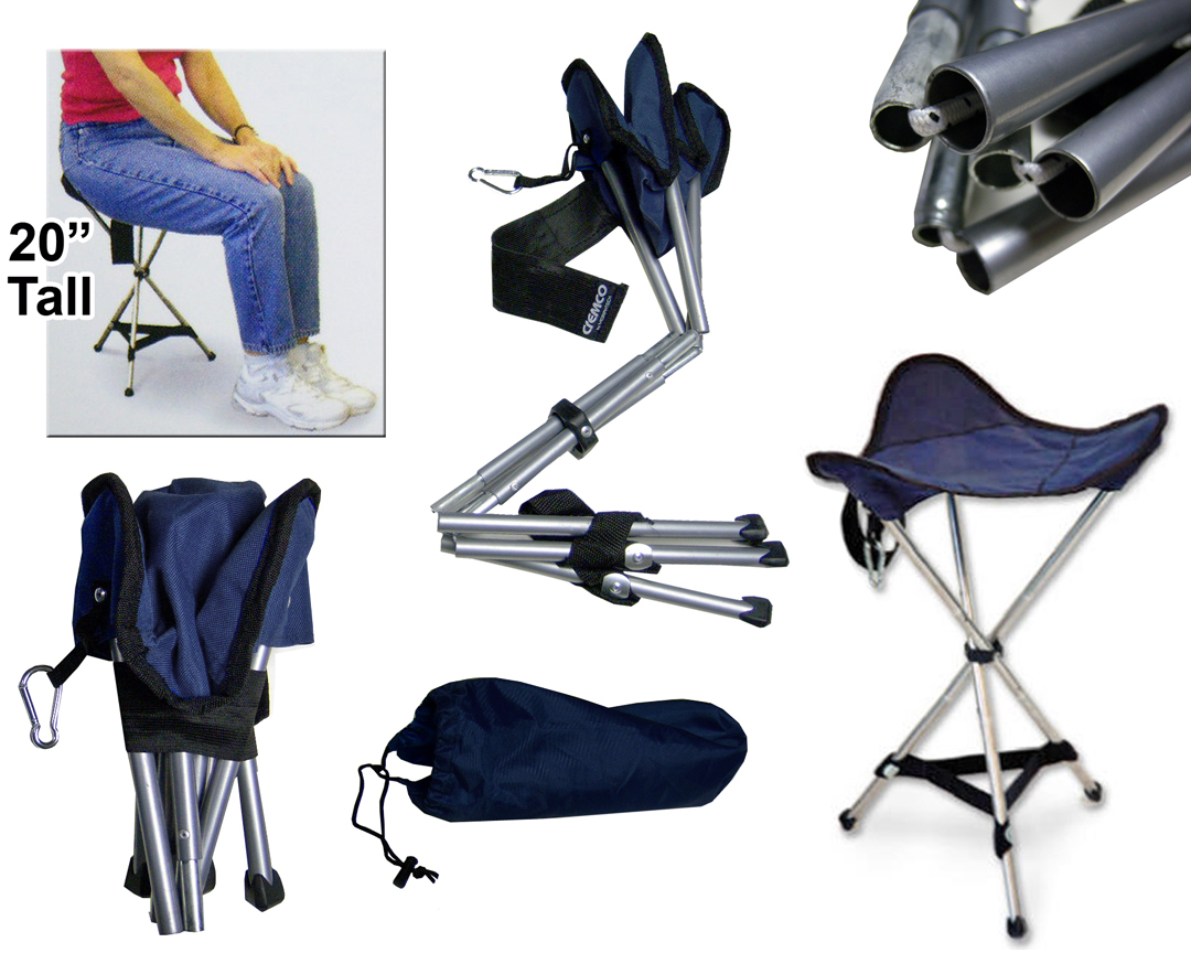56a1d826d716 E35496 Folding Tripod Stool - Portable Seat - Closeout
