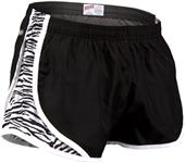 Soffe Girl's Zebra Print Team Shorty Shorts