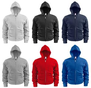 Soffe Youth Full Zip Hooded Sweatshirts. Decorated in seven days or less.