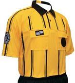 USSF Pro Soccer Referee Jerseys Gold -Striped