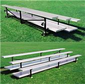 Tip N Roll Bleachers, 4 ROW No-Elev Std No Aisles